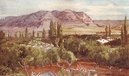ISRAEL: The Mount of temptation from Jericho, print, 1902